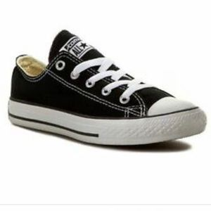 Converse All Star Low Top Black Shoes Youth Size 3